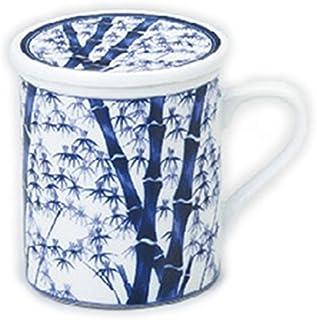 日本土产 带竹林带盖马克杯(带滤茶器) [85 x 95mm] 浅草 特产 日本土产 业务用
