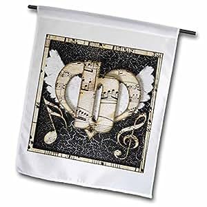 dooni Designs monogram 首字母设计–Song 天使首字母 B–旗帜 12 x 18 inch Garden Flag