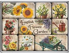 9 件英國鄉村花朵花園園藝廚房冰箱磁貼禮品套裝