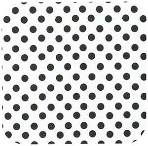 inspirationzstore 波尔卡圆点设计–黑色波尔卡圆点白色–经典复古 fifties 时尚斑点图案–杯垫