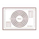 "Daixers 硅胶烘焙垫,2 件套,大号 60cm x 40cm 小号 28.96 cm x 27.00 cm,不粘防滑带测量物垫 Red - Large (23.62"" x 15.74"") 201605251500"