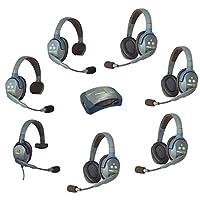 Eartec UltraLITE HUB 7 人系统带 2 个单耳机,4 个双耳机和* 7 个耳机选择HUB 7-24MXS Max 4G Single Headset