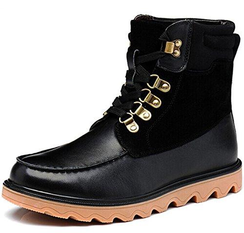 FUGUINIAO 富贵鸟 英伦系带男士高帮保暖加毛经典真皮牛皮中帮复古休闲棉鞋棉靴马丁靴工装靴马丁鞋皮鞋子男鞋子
