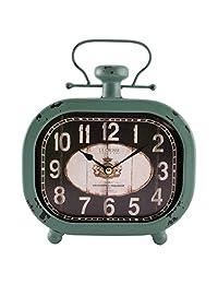 La Crosse 404-3425 仿古青色金属时钟