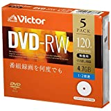 维克多(Victor) 重复录像用 DVD-RW VHW12NP5J1 (单面1层/1-2倍速/5张)