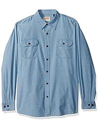 WRANGLER 男式 authentics 长袖经典梭织衬衫