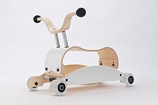Wishbone Mini-Flip Mix & Match 红色婴儿学步车和摇椅 - 3 合 1 步行、踏板和摇滚(红色) 白色