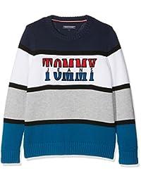 TOMMY HILFIGER 男孩款复古拼色毛衣运动衫