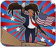 爱国唐纳德·特朗普与鹰美国国旗枪低调薄鼠标垫