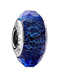 PANDORA 潘多拉 女士炫彩切面琉璃蓝色串珠 791646(丹麦品牌 香港直邮)(包邮包税)