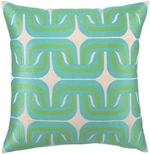 Trina Turk Geo Links 羽绒枕,50.8 x 50.8 厘米 蓝色/* 20x20 Square 24TT54CC20SQ