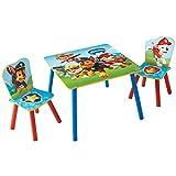狗狗巡逻队 ( mn9jl ) 儿童表和2椅套装木质 multi-colour 63x 63x 52.5CM