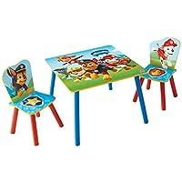 狗狗巡逻队 (mn9jl) 儿童表和2椅套装木质 multi-colour 63x 63x 52.5CM