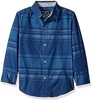 Calvin Klein 男童渐变色横条纹长袖衬衫