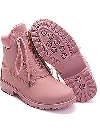 Uttse 女式户外防水系带及踝工装靴