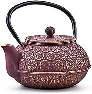 Old Dutch 1032PG 樱花茶壶,22 盎司,紫色,金色