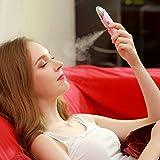 Yandex 纳米喷雾补水仪器 手持美容补水按摩仪 脸部加湿器 蒸脸器 (粉色)