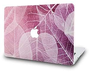 "KEC MacBook 用笔记本电脑保护套 塑料硬壳 Leaf - Pink A1502/A1425 Old MacBook Pro 13"" Retina (2015)"