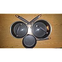 Anolon Advanced Gray 12-pc. Hard-Anodized Nonstick Cookware Set 灰色 None