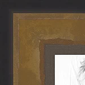 ArtToFrames 21x33 inch Bronze and Ebony Edged Two Tone Wood Picture Frame, 2WOMOM80656-21x33