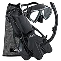 Phantom Aquatics Adult Speed Sport Mask Fin Snorkel Set