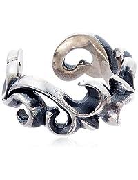 cenote 【银饰品】 百合纹章银色耳夹 15066600