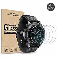 【4 件装】钢化玻璃屏幕保护膜适用于三星 Galaxy Watch 42mm / Gear S2 ,Akwox [0.33mm 2.5D 高清 9H] 优质透明屏幕保护膜适用于三星 Galaxy Watch 智能手表42mm/齿轮 S2