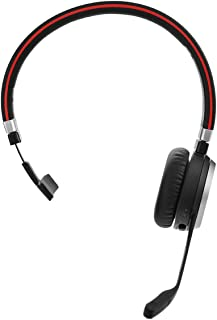 Jabra Evolve 65 无线蓝牙耳机,适用于个人电脑、笔记本电脑、智能手机、软电话和平板电脑6593-823-309 适用于 Microsoft Lync/Mono 黑色