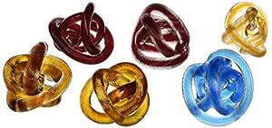 "IMAX 玻璃绳结 - 6 件套 多种颜色 3.75""d 63072-6"