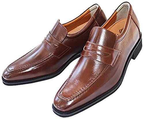(北岛制鞋工业所) KITAJIMA 6cmUP真皮增高鞋 牛皮儿童专业的鞋业 潮流『长腿型上装鞋』*305(绅士鞋 男鞋 商务 就职 国产 日本制造 牛皮 懒人鞋)