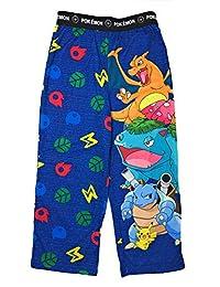 AME Pokemon 男孩睡衣裤,睡裤,睡衣裤,睡衣裤,弹性腰,针织