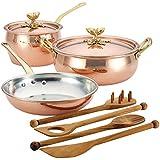 Ruffoni Historia Decor 厨具 5 件套,铜