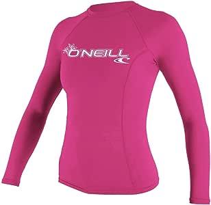 O'Neill Wetsuits Women's Basic Skins Long Sleeve Crew Rash Guard Shirt