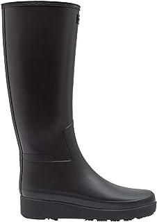 Hunter 女式精致修身爬行服高筒靴(42 码,黑色)