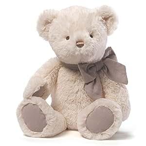 GUND Amandine泰迪熊米白色充绒玩具-高15英寸(38cm)(亚马逊进口直采,美国品牌)