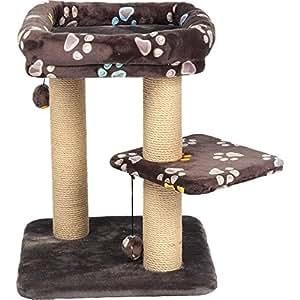 Trixie 44417 猫抓树 方形 58 厘米 灰褐色