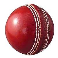 AnNafi 皮革板球红色 A 级 | 硬手工缝制无印章适用于室内和室外练习板球