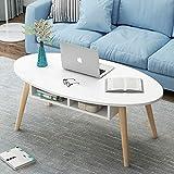 北欧茶几现代简约小户型客厅边桌房间卧室小圆桌抽屉电脑桌可移动边几 (120x60cm暖白+斗)