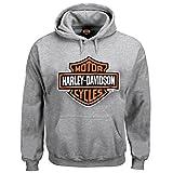 Harley-Davidson 男式套头运动衫,Bar & Shield 连帽衫,灰色 30296627