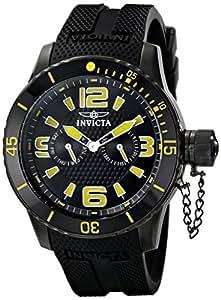 Invicta 男士 1796SYB 专业模拟显示日本石英黑色手表