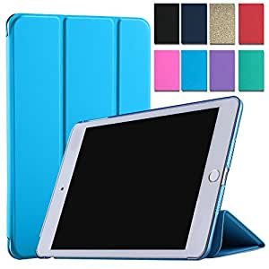"Tri 折叠超薄智能盖 PU 皮前面+软硅胶背面(✔提供额外保护)[自动*/唤醒]√ò柔软背面 iPad 4 / iPad 3 / iPad 2 (9.7"")"