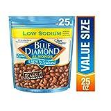 Blue Diamond Almonds低钠轻微盐渍杏仁, 25 Ounce/709g
