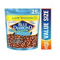 Blue Diamond Almonds 低钠轻盐渍杏仁, 25 盎司/709克
