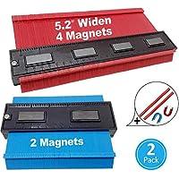 2 件轮廓测量套件   12.7 厘米和 25.4 厘米(宽)带磁铁的轮廓复刻刻仪表  形状角度,精确测量角度模板标记瓷砖工具 D&R Toolz 出品