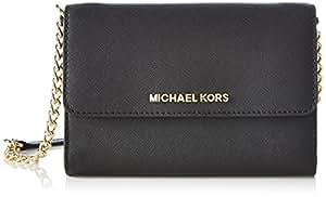 Michael Kors 迈克·科尔斯 JET SET TRAVEL 女式 单肩斜挎包 32T4GTVC3L-001 黑色 均码