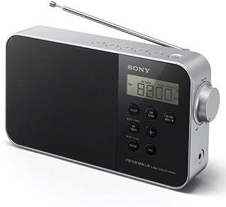 Sony 索尼 ICF-M780便携式数字时钟收音机(UKW/KW/MW/LW调频,LED照明,报警功能,电源或电池供电)黑色