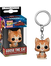 Funko 36440 公仔! MarvelCaptain MarvelGoose The Cat钥匙扣,多色