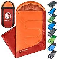 VENTURE 4TH 徒步睡袋 - 轻便、舒适、防水、3 季 - 徒步、露营和户外探险(成人和儿童)