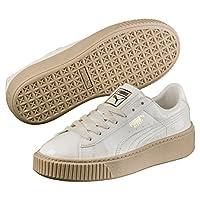 Puma BASKET PLATFORM PATENT Women 363314-05 女士板鞋 Marshmallow