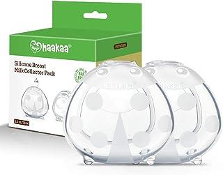Haakaa *收集器 2020 新版乳壳硅胶不含 BPA *喂养乳保护奶嘴哺乳杯柔软灵活可重复使用 2 件套